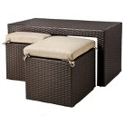 Atlantis 3-Piece Coffee Table With Tuck Under Seating Furniture Set