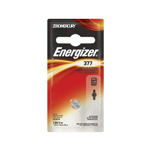 Energizer Silver Oxide 377 Battery 1 Count