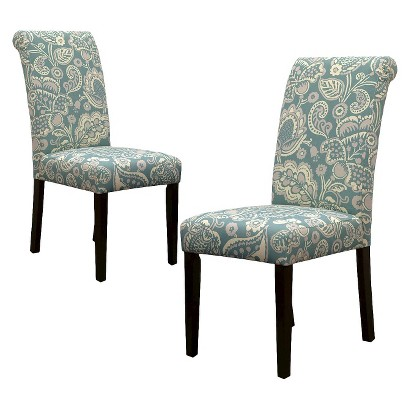Avington Dining Chair Laguna Paisley Set of 2 Tar