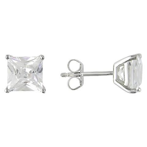 Allura 4 5/8 CT. T.W. Square Cubic Zirconia Earrings in Sterling Silver