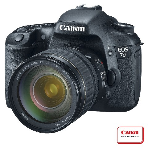 Canon EOS 7D 18MP Digital SLR Camera with EF 28-135mm Lens - Black
