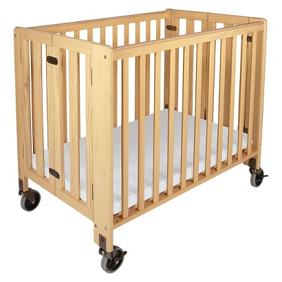 Foundations HideAway Fixed Side Crib - Natural
