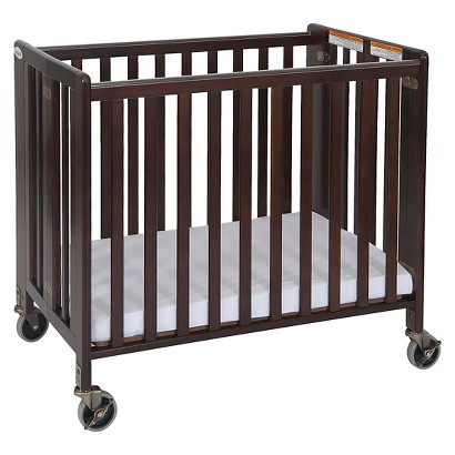 Foundations HideAway Fixed Side Crib - Cherry