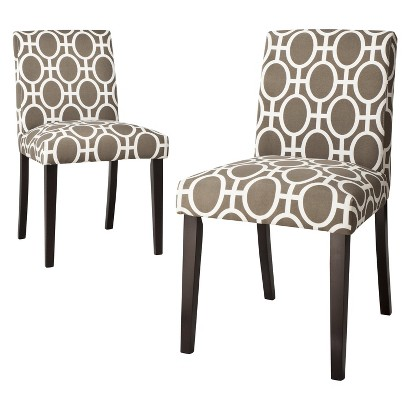 Uptown Dining Chair Set of 2 - Trellis Taupe