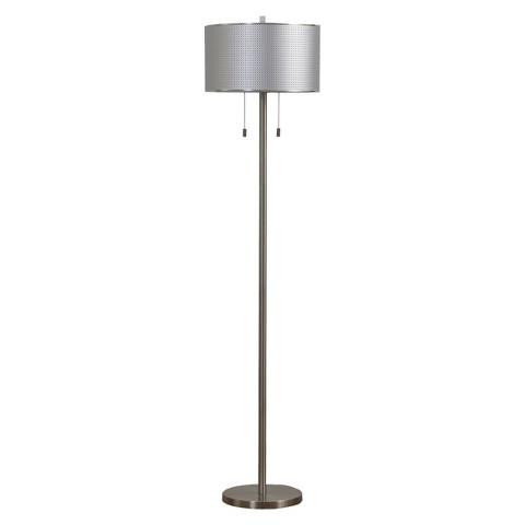"Orbit Michael Metal Floor Lamp - Brushed Steel (60"")"