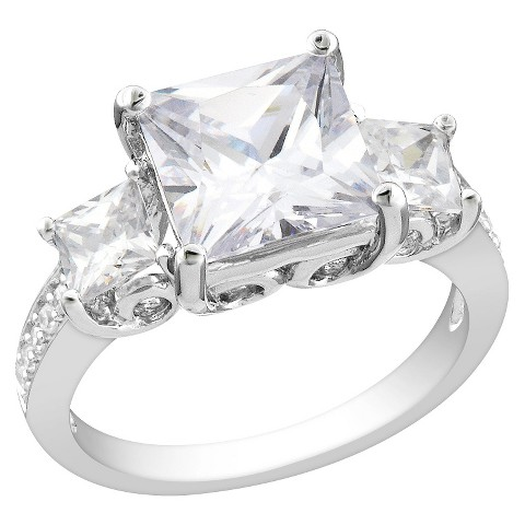 6.64 CT. T.W. Cubic Zirconia Engagement Ring in Sterling Silver