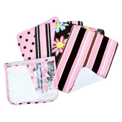 Trend Lab 5Pc. Burp Cloth and Pouch Set - Maya
