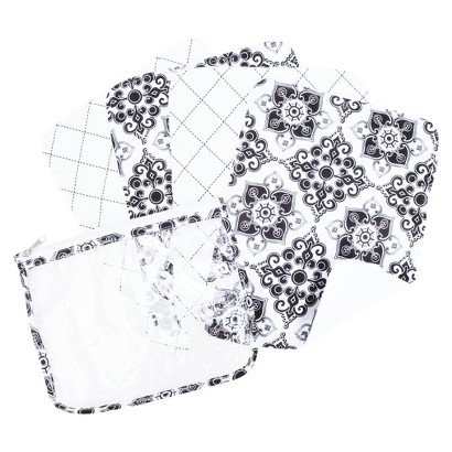 Trend Lab 5 Pc. Burp Cloth and Pouch Set - Versailles