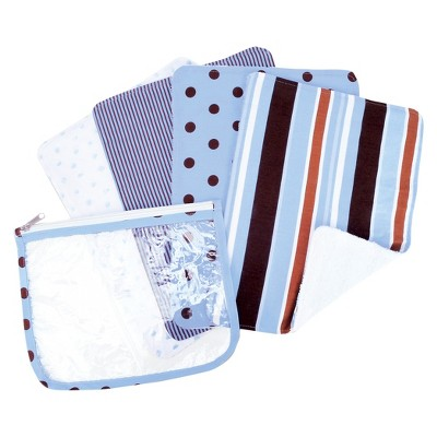 Trend Lab 5 Pc. Burp Cloth and Pouch Set - Max