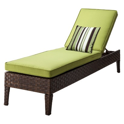 Belmont Brown Wicker Patio Chaise Lounge