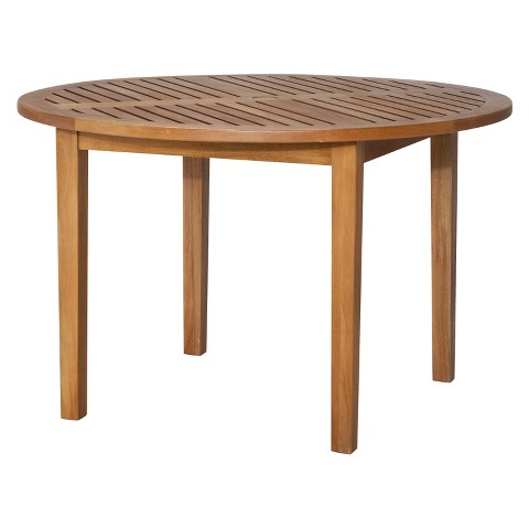 Smith & Hawken® Brooks Island Wood Round Patio Dining Table - 48""
