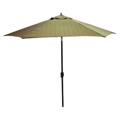 Patio Umbrella - Green Woven 9'