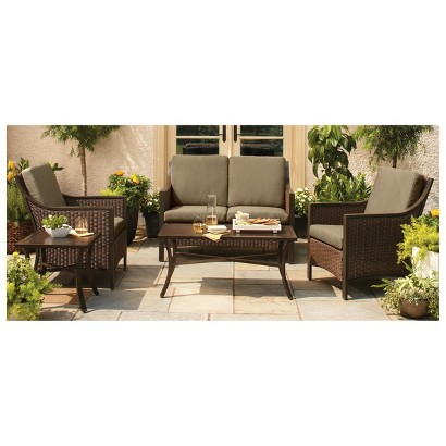 Casetta Wicker Patio Conversation Furniture Coll Tar