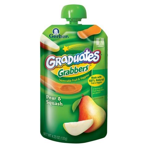 Gerber Graduates Grabbers Pear Squash 4.23 oz