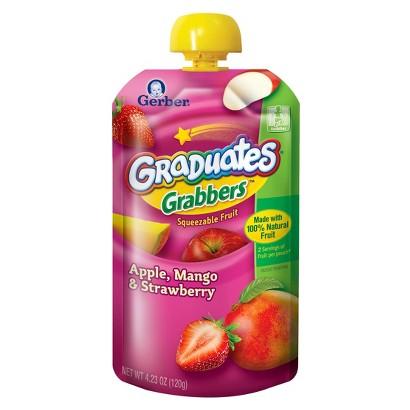 Gerber Graduates Grabbers - Apple Mango Strawberry 4.23 oz