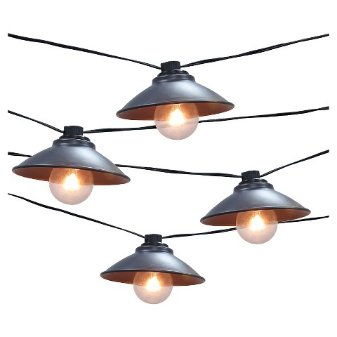 Outdoor String Lights Smith Hawken : Metal Pendant String Lights (10ct) - Smith & Ha... : Target