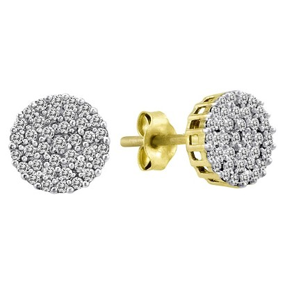 0.20 CT.T.W. Diamond Earrings in 10K Yellow Gold