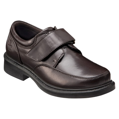 Boy's French Toast® Easy Strap Uniform Loafers - Brown