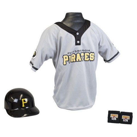 Franklin Sports Pittsburgh Pirates MLB Uniform Set for Kids - OSFM Ages 5-9