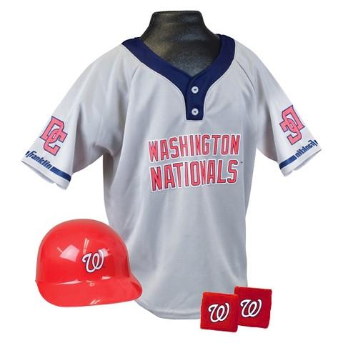 Franklin Sports Washington Nationals MLB Uniform for Kids - OSFM Ages 5-9
