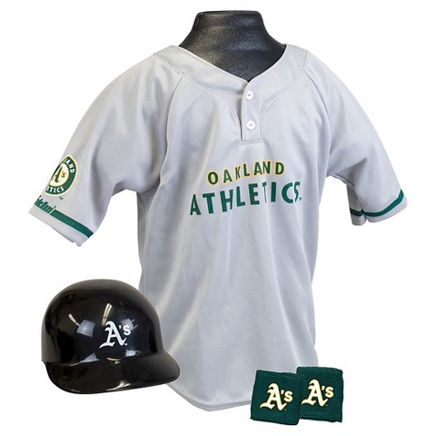 Franklin Sports Oakland Athletics MLB Uniform Set for Kids - OSFM Ages 5-9