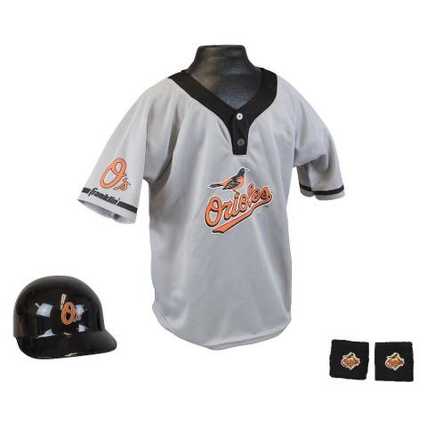 FranklinSports Baltimore Orioles MLB Uniform Set for Kids - OSFM Ages 5-9