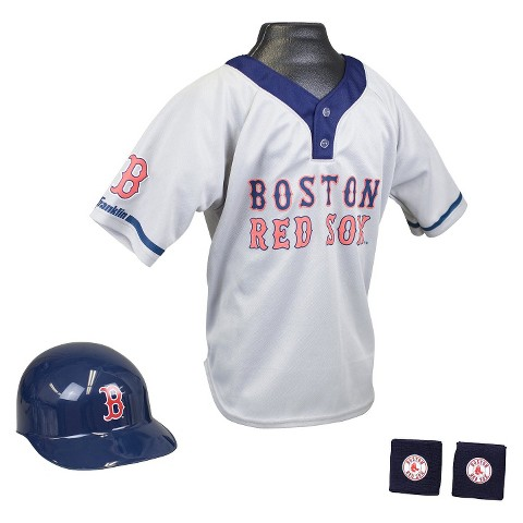 Franklin Sports Boston Red Sox MLB Uniform Set for Kids - OSFM Ages 5-9