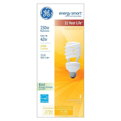 GE 150-Watt High Wattage CFL Light Bulb - Soft White