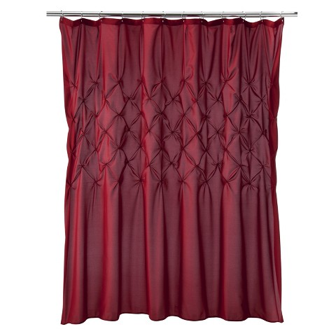 diamond tuck shower curtain target