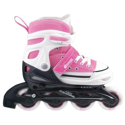 Chicago Rally Girl's JR Adjustable In Line Skate - Pink