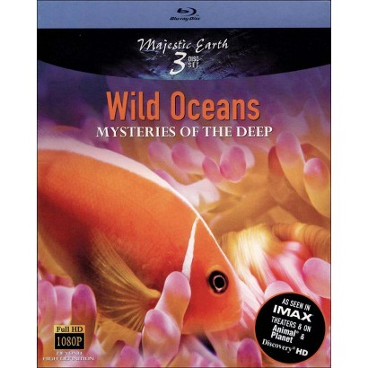 Majestic Earth: Wild Oceans - Mysteries of the Deep (3 Discs) (Blu-ray) (Widescreen)