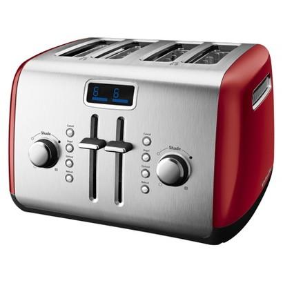 KitchenAid® 4-Slice Toaster with Digital Display- Empire Red KMT422