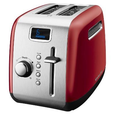 KitchenAid® 2-Slice Toaster with Digital Display- Empire Red KMT222