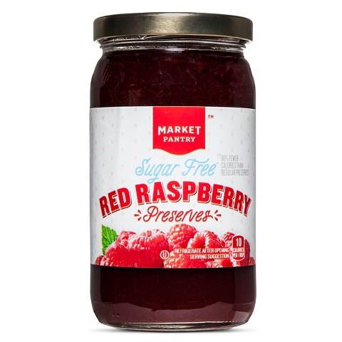 Market Pantry Sugar-Free Red Raspberry Preserves 13 oz