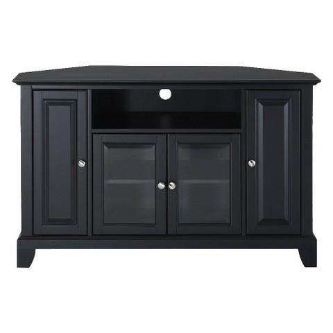 "Crosley Newport Corner TV Stand - Black (48"")"