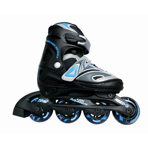 Chicago Blazer Boy's JR Adjustable In Line Skate - Black