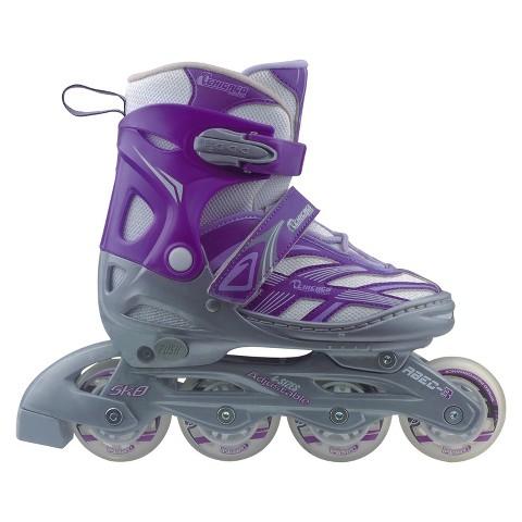 Chicago Blazer Girl's JR Adjustable In Line Skate - Silver