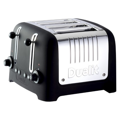 "Dualit Black Soft Touch Lite Traditional ""CHUNKY"" Toaster - 4 slice"