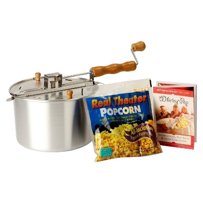 Wabash Family Farms The Original Whirley-Pop Aluminum Popcorn Popping Kit 6-qt.