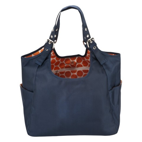 JP Lizzy Diaper Bag Satchel - Blue Navy Mandarin
