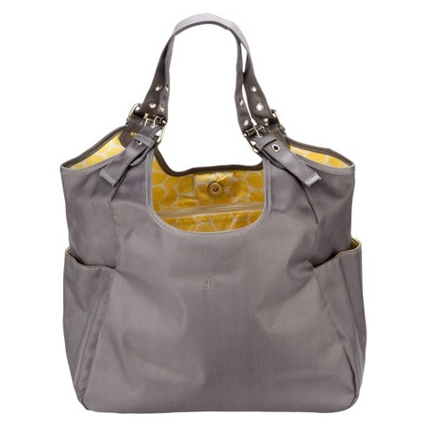 JP Lizzy Diaper Bag Satchel - Grey Slate Citron