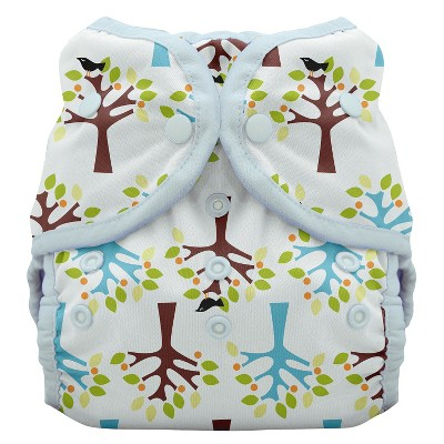 Thirsties Reusable Duo Wrap Diaper with Snaps, Size One - Blackbird