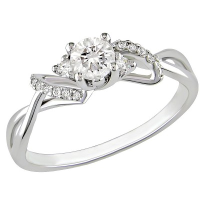10K White Gold Diamond Fashn Ring Silver