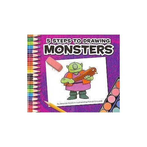 5 Steps to Drawing Monsters (Hardcover)