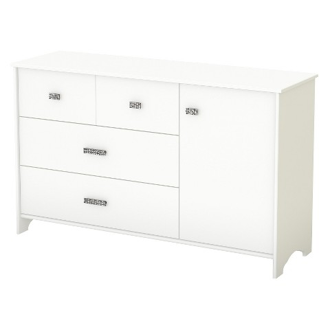 South Shore Glitter Kids Dresser - White