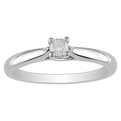 0.15 CT.T.W. Diamond Solitaire Ring in Sterling Silver