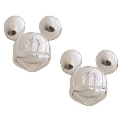 Disney Mickey Mouse Sterling Silver Stud Earrings