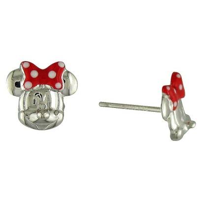 Disney® Minnie Mouse Sterling Silver Stud Earrings