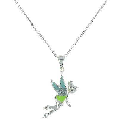 Disney® Tinkerbell Sterling Silver Pendant & Chain Necklace