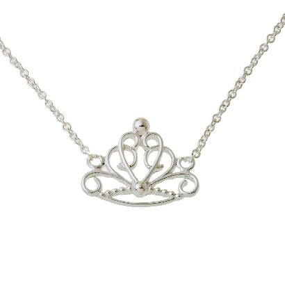 Disney® Princess Sterling Silver Crown Necklace